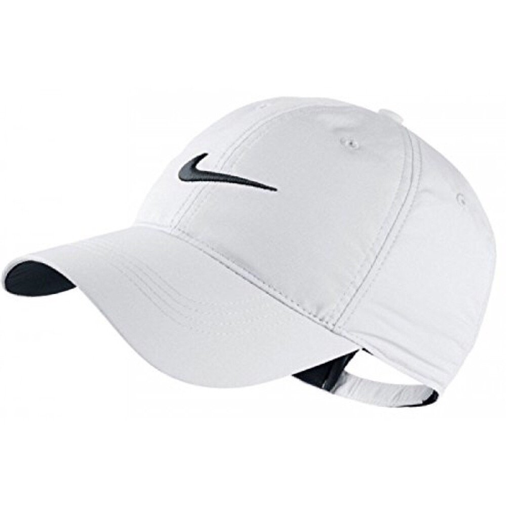 6ed5458e Amazon.com : Nike Classic Golf Sun Cap Hat Dri-Fit Unisex Adjustable OSFM,  Velcro Closure -White/Black : Clothing