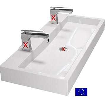 Design Waschbecken 100cm zur Wandmontage oder als Aufsatzwaschbecken ...
