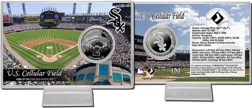 Chicago White Sox Silver Coin - Chicago White Sox US Cellular Field Silver Plate Coin Card