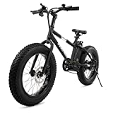 Swagtron EB-6 Bandit E-Bike 350W Motor, Power Assist, 4' Tires, 20' Wheels, Removable 36V Lithium Ion Battery, Dual Disc Brakes- Electric Bike 7-Speed Shimano SIS Shifting Built for Trail Riding