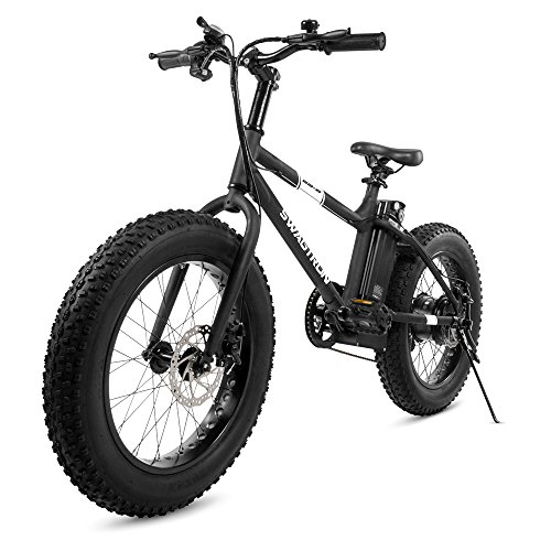 Swagtron EB-6 Bandit E-Bike 350W Motor, Power Assist, 4