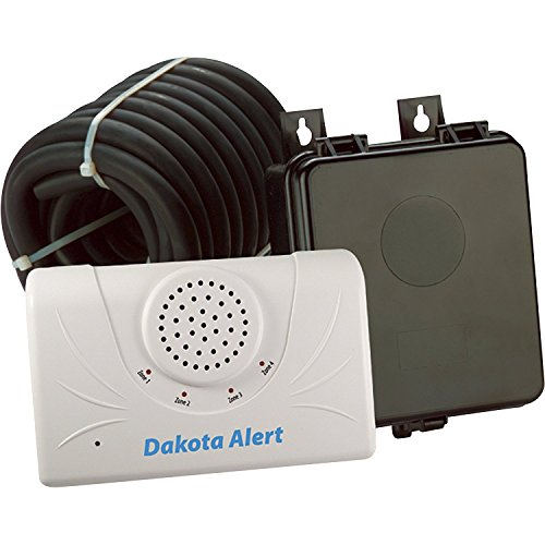 Dakota Alert 2500 Wireless Rubber Hose Vehicle Sensor, White Black (DCRH-2500)