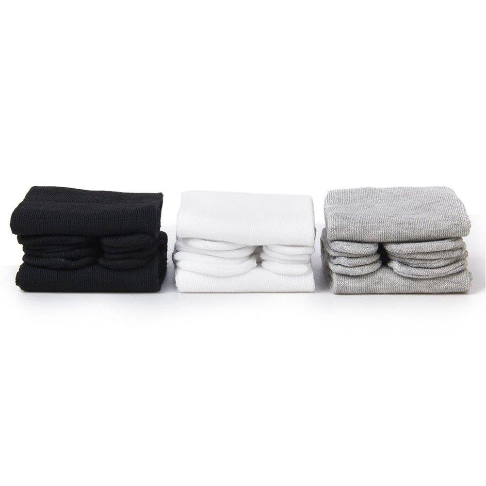 bianco + grigio + nero PIXNOR 3 paia cotone elastico Tabi calzini della punta
