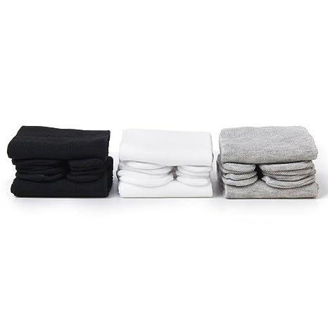 PIXNOR Tabi de algodón elástico de 3 pares calcetines del dedo del pie (blanco +