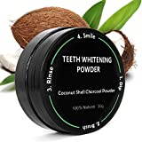 Beauty : P & J Health All Natural Coconut Activated Charcoal Teeth Whitening Powder - Safe Effective Tooth Whitener Solution! (30g, All Natural)