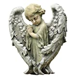 Napco Baby Angel with Wings Statue, 11-1/2-Inch Tall