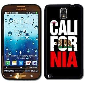 Samsung Galaxy Note 3 Black Rubber Silicone Case - Cali For Nia California Bear Flag by runtopwell