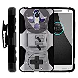Cheap TurtleArmor | Motorola Droid Turbo 2 Case | Moto X Force | Kinzie [Hyper Shock] Hybrid Dual Layer Armor Holster Belt Clip Case Kickstand – Classic Game Controller