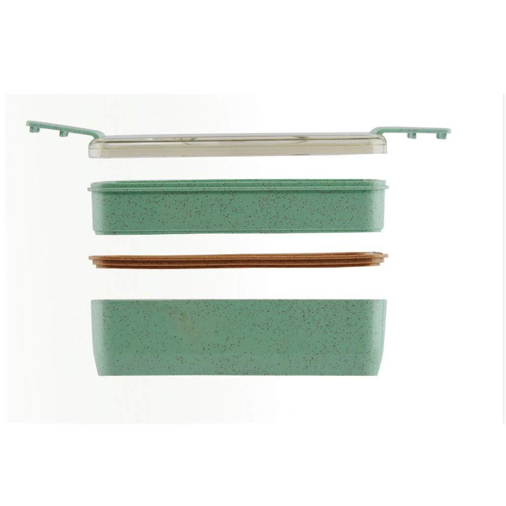 Compartimento para fiambreras fiambreras fiambreras de varias capas con proporción de cubiertos Ingredientes Respetuoso del medio ambiente Fibra de trigo Durabilidad A prueba de fugas Apto para microondas Ideal para adoles 6df604