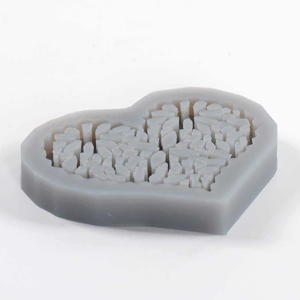 Concrete Coaster Silicone Mould Heart Shape Soap Dish Cement Mold Desktop Decor