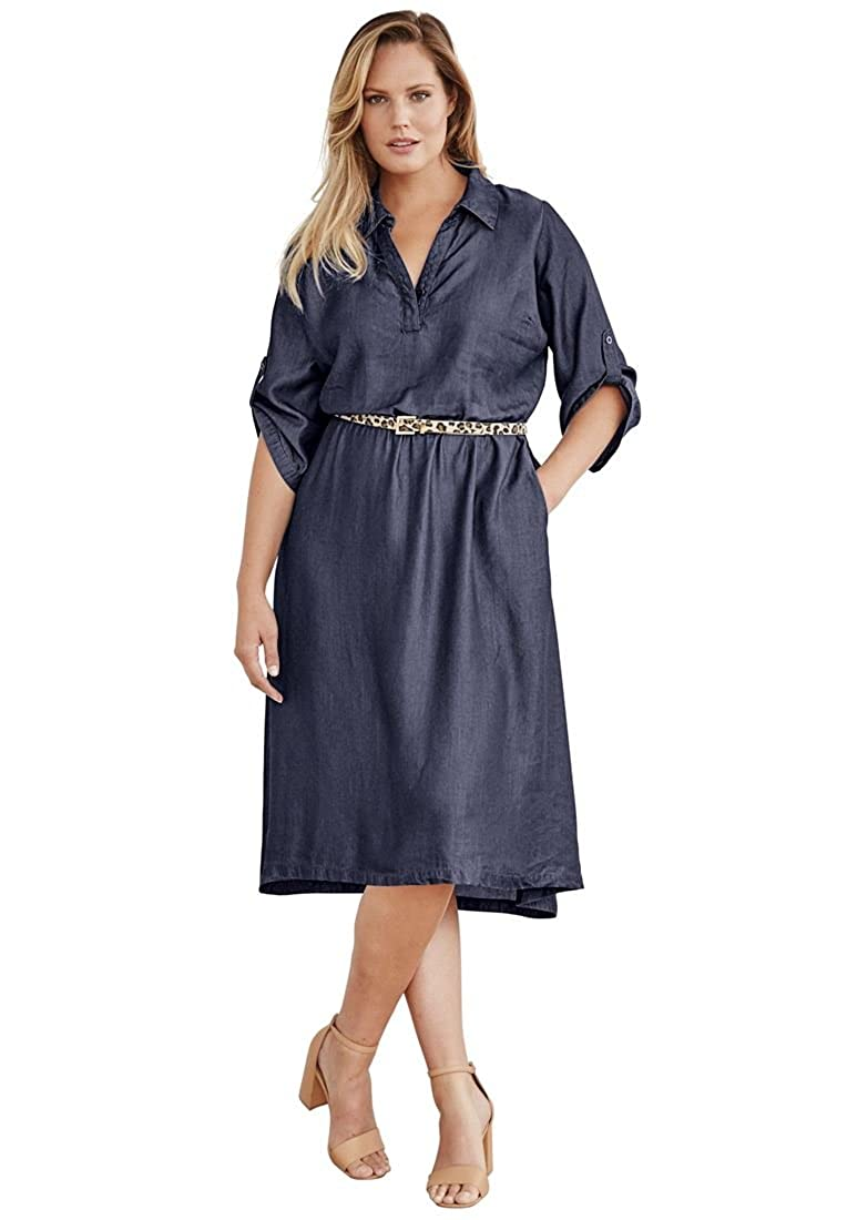 Jessica London Plus Size Hi/Lo Tencel Dress