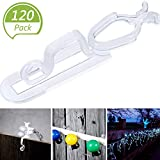 Blulu Christmas Light Gutter Clips, Christmas Light Clip, All Purpose Gutter Hooks Compatible with C9, C7, C6 and LED Mini Lights for Outdoor Roof, Shingles, Roof Ridge Line, Fence