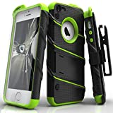 Image of Zizo Military Grade Drop Tested Bolt Series iPhone SE Case for iPhone 5s / SE / 5c with iPhone SE Screen Protector, Kickstand, and Holster Belt Clip