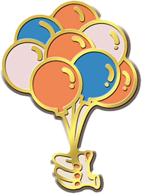Allabout-u Colourful Balloon Pins Cartoon Enamel Pin Air Balloon Brooch Badges Lapel Pins Jewelry
