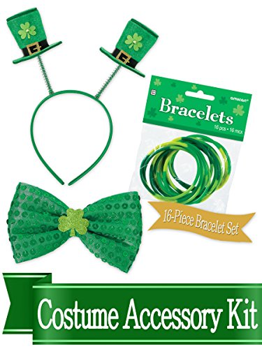 St Patricks Day Bobber and Bowtie Costume Accessory Bundle ()