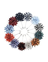 TopTie Lapel Pin Flower Boutonniere for Suit Rose for Wedding (Pack of 12)-set1