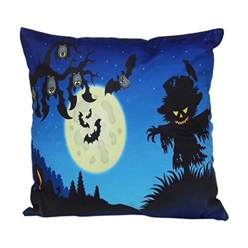 Gotd Halloween Pillow Cushion Cover Home Decor Decorations 45cm45cm18X18' (F)