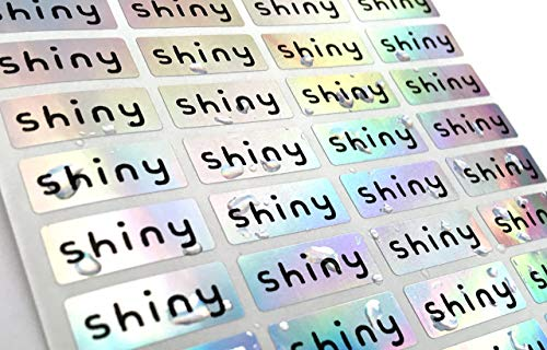 144 Silver Hologram Small Name Stickers -Daycare Labels- Kids labels- Small Size- Customized Labels - Waterproof Labels from Han Printing
