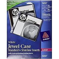 Avery Laser CD/DVD Jewel Case Inserts, Matte White, 20/Pack, PK - AVE5693