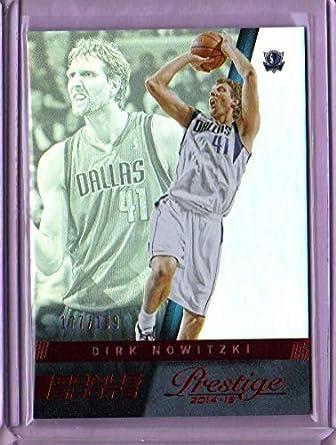 46345c851 Amazon.com  2014-15 Prestige Bonus Shots Red  128 Dirk Nowitzki ...