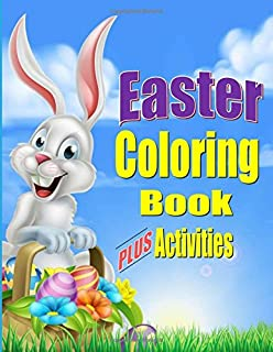 Easter Coloring Book For Kids PLUS Activities Fun Gift Or Basket Stuffer Boys
