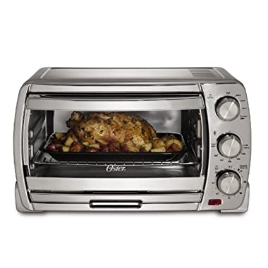 Oster TSSTTVSK01 Extra Large Convection Toaster Oven, Brushed Chrome