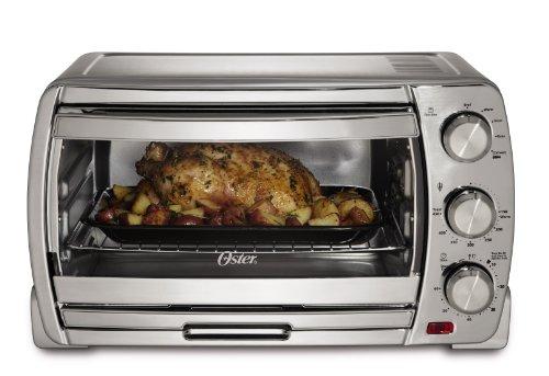 Oster Large Convection Toaster Oven, Brushed Chrome (TSSTTVSK01) image