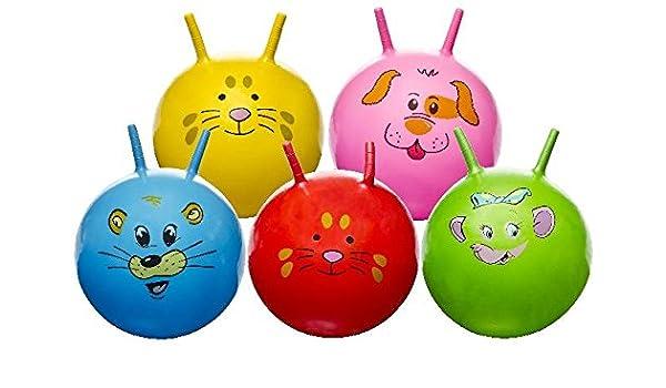 Pelota saltarina 45 cm, con caras de animales, niños hüpfball ...