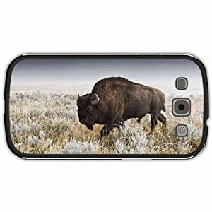 New Style Customized Back Cover Case For Samsung Galaxy S3 Hardshell Case, Black Back Cover Design Bison Personalized Unique Case For Samsung S3 wangjiang maoyi by lolosakes