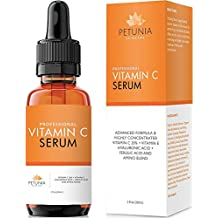 Vitamin C Serum (20%) with Hyaluronic Acid and Ferulic Acid | Anti-Aging Collagen Booster | Dark Spot Corrector Helps Repair Sun Damaged Skin, Reduce Wrinkles and Acne Scars | LABEL DESIGN VARIES
