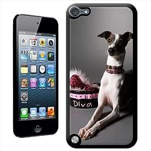 Fancy A Snuggle 'gris Diva de perro' carcasa para Apple iPod Touch 5th generación