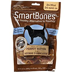 SmartBones Peanut Butter Dog Chew, Mini, 24 pieces/pack