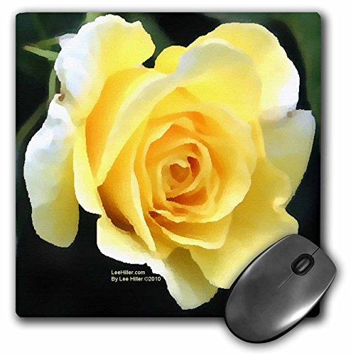 Lee Hiller Designs Roses - Pale Yellow Rose - MousePad (mp_5029_1) ()
