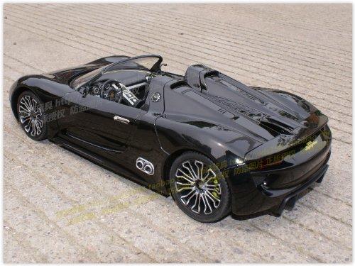 amazoncom radio remote control 114 porsche 918 spyder sport rc model car rc rtr black toys games - Porsche Spyder 918 Black
