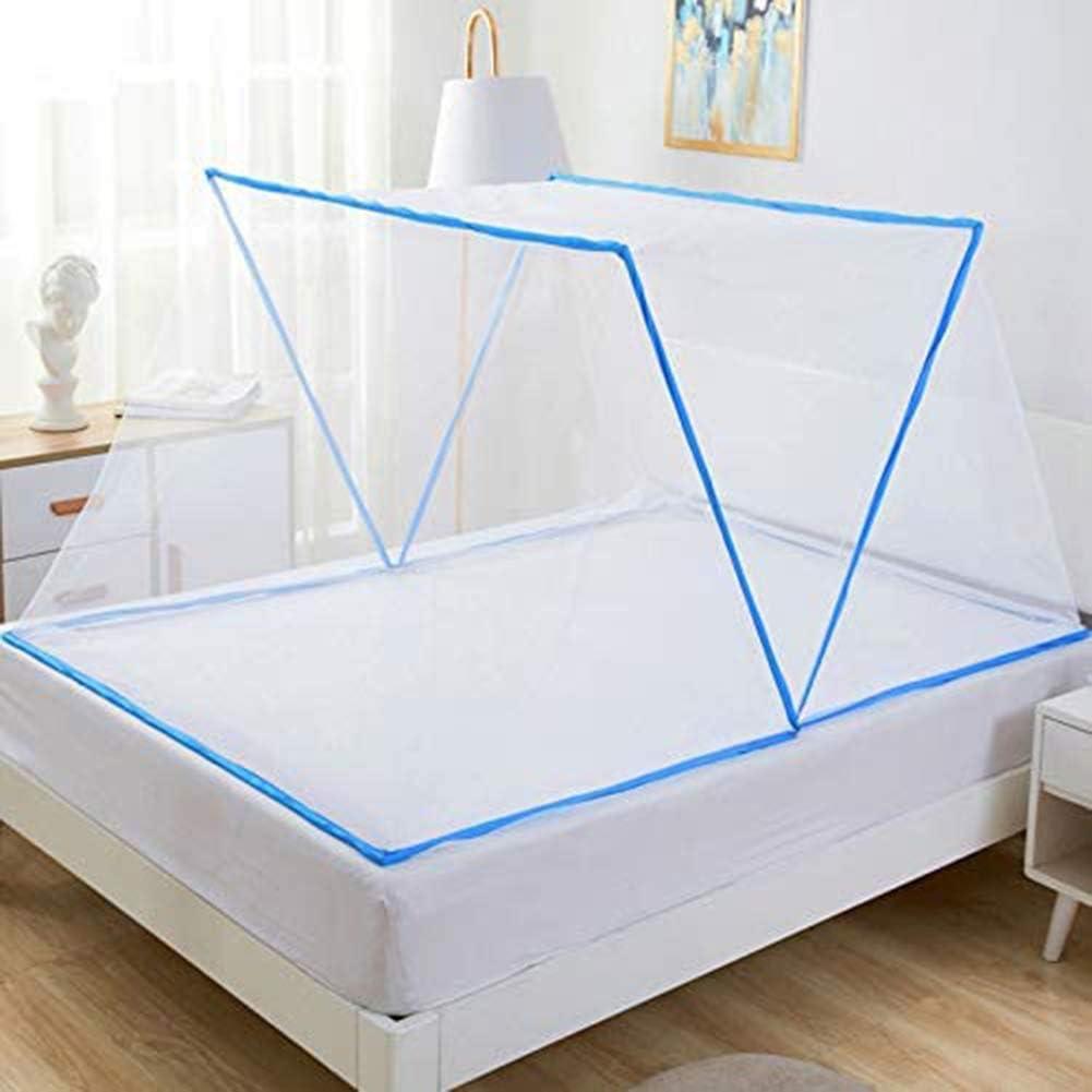 Moustiquaire Lit Simple Place Moustiquaire Filet Anti Piq/ûres De Moustiques Moustiquaire Jauge Bleue Fine 80 * 190 * 80Cm,Bleu,80 * 190 * 80cm ZM-Shoes Moustiquaire Pliable