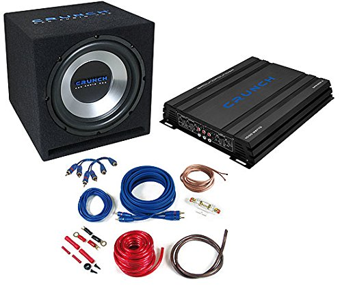 Crunch CBP1000 amplificador para coche - amplificadores para coche (Negro, 50-250 Hz, 50-250 Hz, 0-12 dB, A/B, Corriente alterna, RCA)