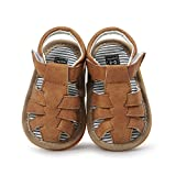 Baby Leather Moccasins, Neband Infant Baby Boys Pu Leather Rubber Sole Summer Sandals First Walkers