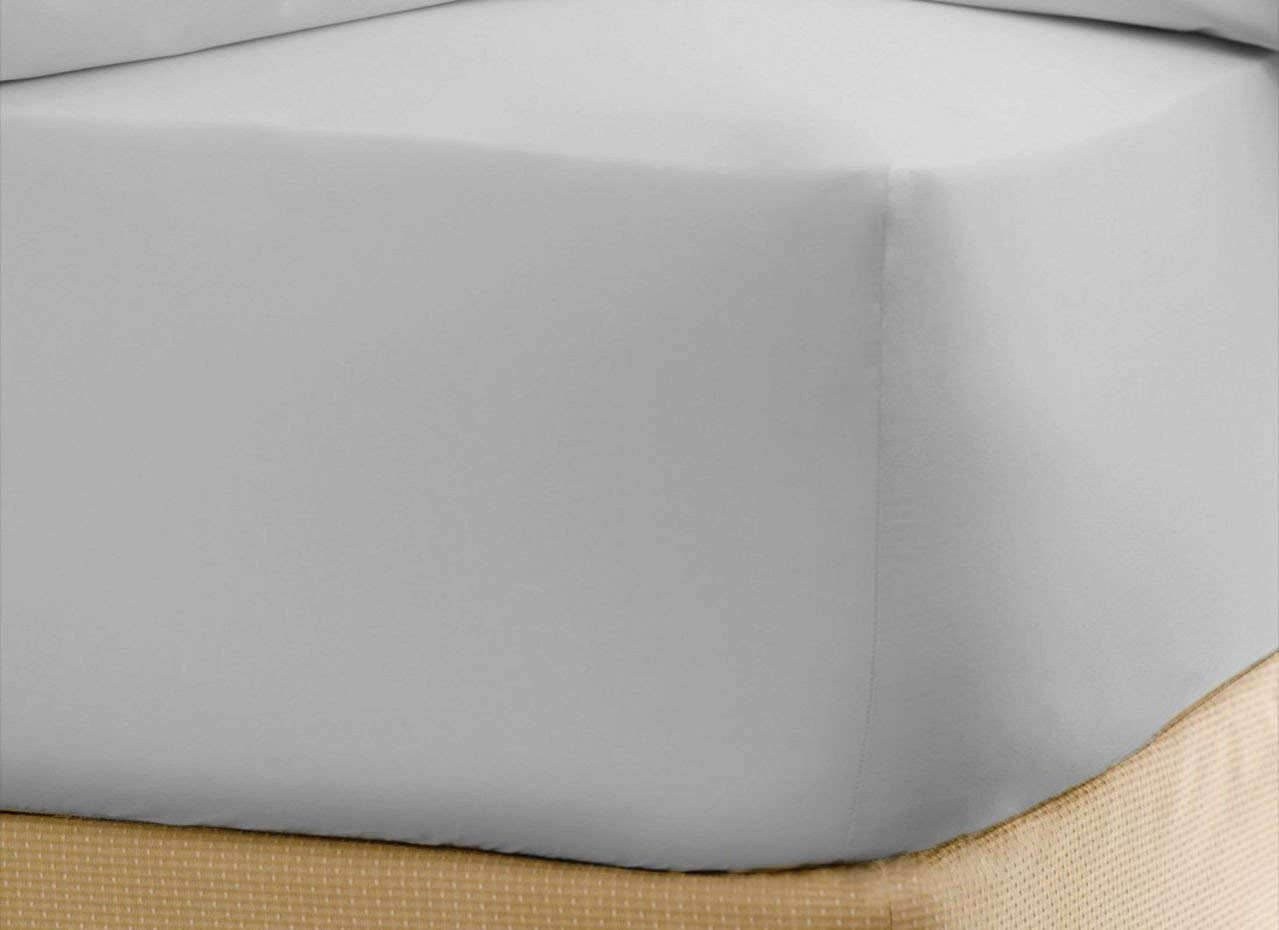 Luxurious Hotel Collection Fitted Sheet with 9'' Deep Pocket in Solid White King Size 100% Egyptian Brushed Microfiber