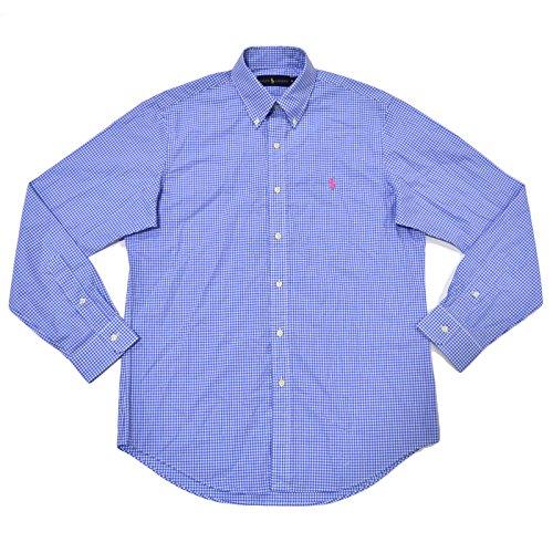 Polo Ralph Lauren Mens Gingham Buttondown Shirt (L, - Service Ralph Customer Polo Lauren