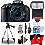 Canon EOS Rebel T7i 24.2MP DSLR Camera + Speedlite TTL Flash + 18-55mm Lens + Lens Pen + Dust Blower + Reachargeable Battery + 100 Lens Tissue + Universal Protector + Tall Tripod + 3pc Cleaning Kit Review