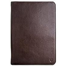 HIDESIGN Img Ipad Leather Portfolio/Padfolio with Handmade Paper Notebook, Brown, Under Seat