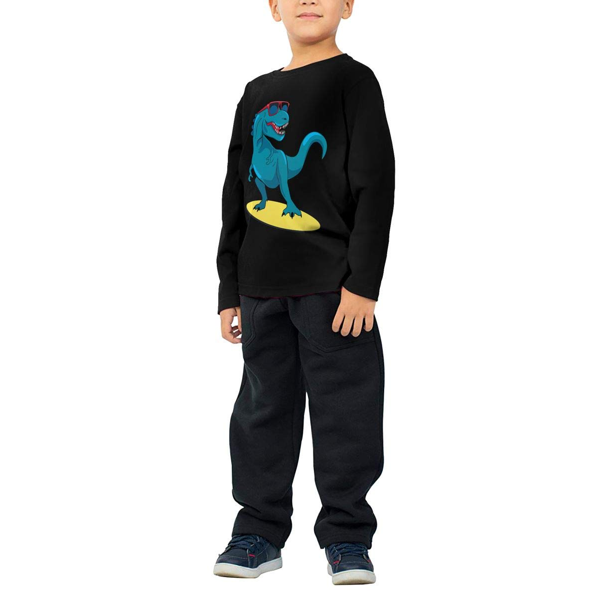 Fryhyu8 Toddler Childrens Surfer Dinosaur Printed Long Sleeve 100/% Cotton Infants T-Shirts