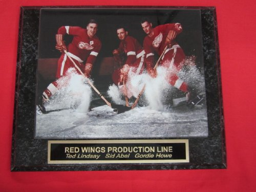 Detroit Red Wings PRODUCTION LINE Engraved Collector Plaque w/8x10 VINTAGE Photo