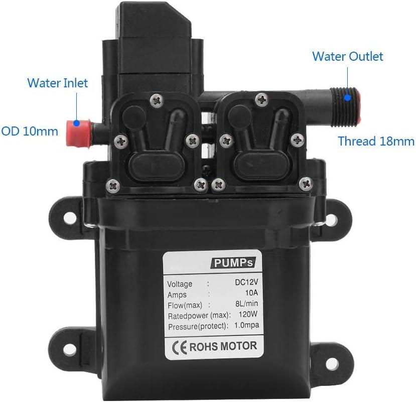 Pompe /à eau /à diaphragme-DC 12V 120W Pompe /à eau /à diaphragme intelligente /à amor/çage automatique avec interrupteur de pression automatique