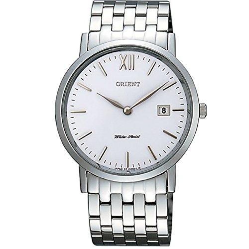 Orient Women's 36mm Steel Bracelet & Case Quartz White Dial Watch FGW00004W