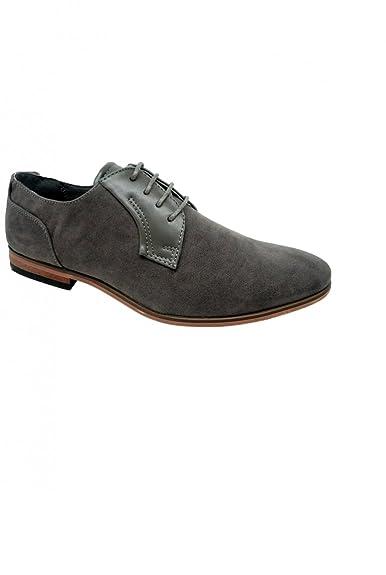 24116dde615 Dymastyle Chaussure classique pour homme doublure cuir - Gris - P-39 ...