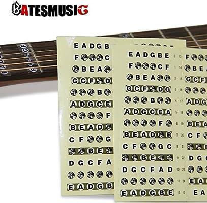 Guitarra diapasón Oxita pegatinas™ notas musicales cuerdas ...