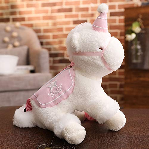 MIIA Plush Backpack - Unicorn Plush Backpacks Unicorn Women Shoulder Bag Girls Kids Birthday Gift - 12 Inch Pink - Fruit Spiderman Clip Monster Pink Cat Sonic for Eevee Paw Cow Toddler Purse