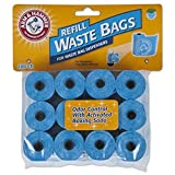 Petmate Arm & Hammer 71039 Disposable Waste Bag Refills, Blue, 180-Pack