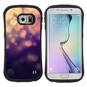 """Pulsar iFace Series Tpu silicona Carcasa Funda Case para Samsung Galaxy S6 EDGE , Luces azules del brillo de Bling"""""""